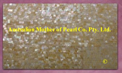 Gold Mother of Pearl mosaic panel