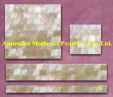Gold Mother of Pearl mosaic tiles