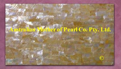 Gold Mother of Pearl panel
