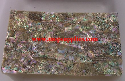 Red abalone heart glued sheets